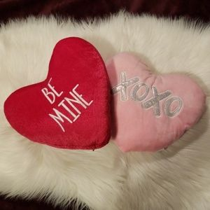 Valentine's Day Heart Shaped Mini Decor Pillows